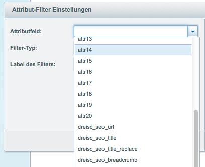 Attribute-Filter-Einstellungen