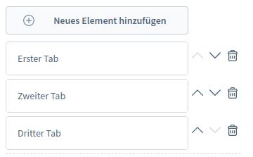 Tab Optionen