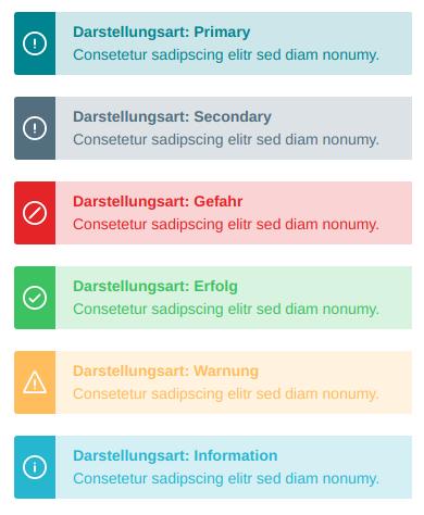 Darstellungsarten der Alert Box