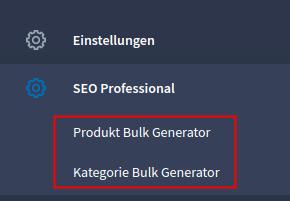 Bulk Generator Module im Admin